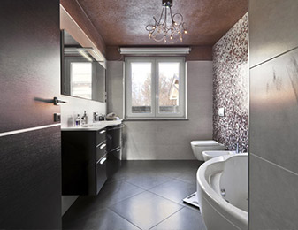 Flooring & Kitchen Design Center can help you choose the highest quality brand name flooring for your bathroom flooring project
