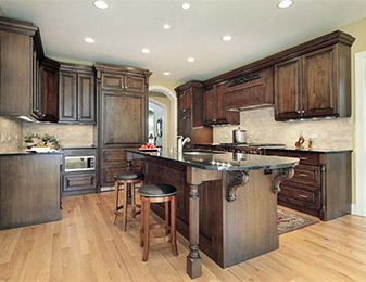 Flooring & Kitchen Design Center carries quality long-lasting hardwood flooring for all of your kitchen flooring projects