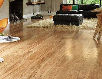 Flooring & Kitchen Design Center carries quality long-lasting hardwood flooring for all of your living room flooring projects