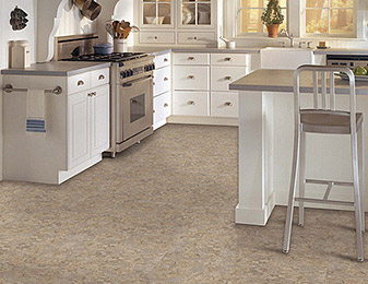 Multi Colored Kitchen Vinyl Floors now available at Flooring & Kitchen Design Center in Elmsford