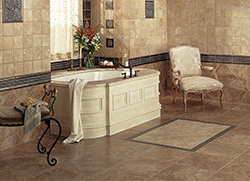 Give your bathroom a makeover with high quality flooring products from Flooring & Kitchen Design Center