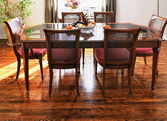 Flooring & Kitchen Design Center can help repair your hardwood with our sanding & refinishing services leaving your hardwood looking brand new!